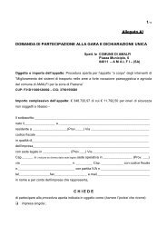 Allegato A bando di gara monorotaie pastena ... - Comune di Amalfi