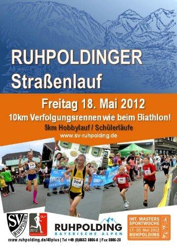 Ruhpoldinger Strassenlauf 2012 - SV Ruhpolding