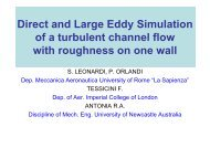Direct and Large Eddy Simulation of a turbulent channel flow with ...