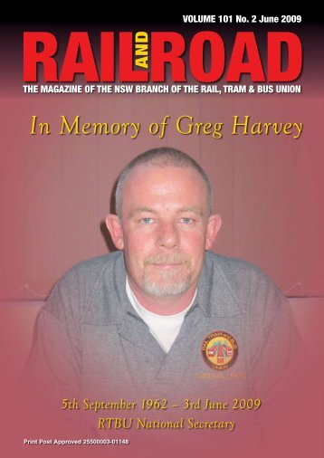 In Memory of Greg Harvey - Rail, Tram and Bus Union of NSW