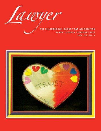 February 2012 Lawyer Magazine - Hillsborough County Bar ...