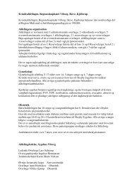 Kvindeafdelingen, Regionshospitalet Viborg, Skive, Kjellerup ...