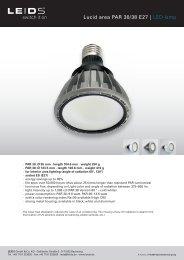 Lucid area PAR 30/38 E27 | LED-lamp - LEIDS