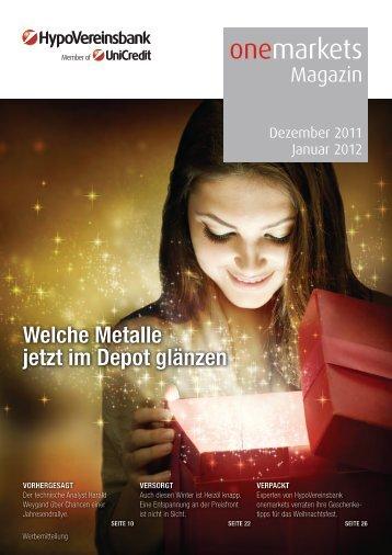 onemarkets Magazin 12/2011 - Aktien