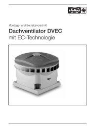 Dachventilator DVEC - Helios Select Ventilator Auswahl