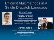 Talk PDF - Brian Foote