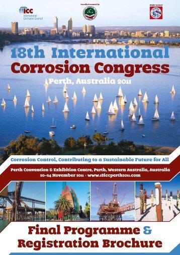18th International Corrosion Congress, Perth, Australia