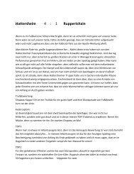 Hattersheim 4 : 1 Ruppertshain - SV-Ruppertshain