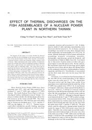 effect of thermal discharges on the fish ... - Academia Sinica