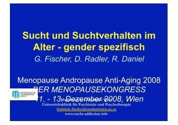 Sucht und Suchtverhalten im Alter - gender ... - Sucht und Drogen