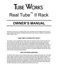 922 & 9002 Real Tube™ II Rack - Genz Benz