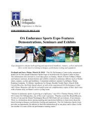 OA Endurance Sports Expo Features Demonstrations, Seminars and ...