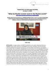 """What do Muslim women want in the Muslim world?"""