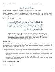 Nur Muhammad Dan Insan Kamil - Khadijah Mosque