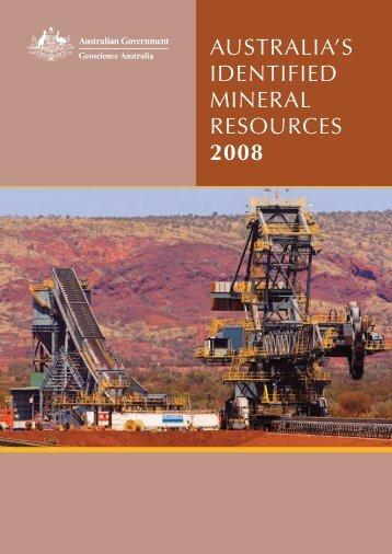 Australia's Identified Mineral Resources 2008 - Geoscience Australia