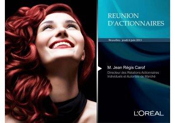REUNION D'ACTIONNAIRES - F2iC