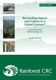 Reconciling Nature and Culture in a Global Context? - Rainforest ...
