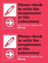 Please check in with the receptionist at the Laboratory Please check ...