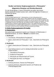 """Großer und kleiner Ergänzungsbereich """"Philosophie"""" Allgemeine ..."""