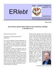 Download - Nr. 55 - März 2012 als PDF-Datei - Geistliche Gemeinde ...