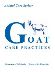 Goat Care Practices - School of Veterinary Medicine