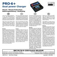 Pro-6+ Dual power Charger - BMI-models