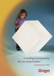 Sustainability report - Origin Energy