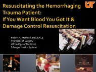 Transfusing the Bleeding Trauma Patient How do we tank them up?
