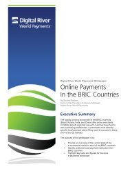 Digital River World Payments White Paper - Airline Information