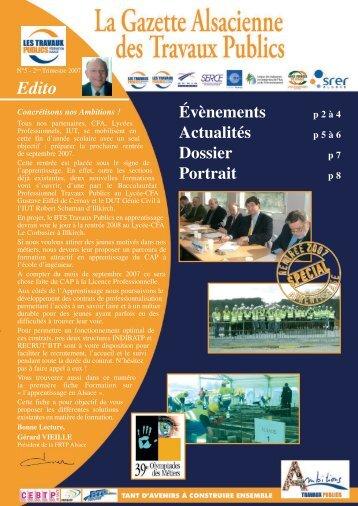 La Gazette Alsacienne des Travaux Publics N° 5 - Cellule ...