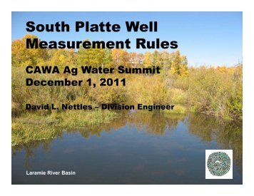 Dave Nettles, Colorado Division of Water Resources