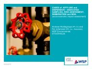 CASES of AFFF-USE and DISPERSION – DEDICATED ... - Nordrocs