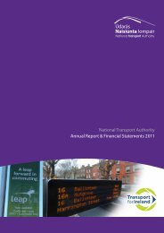 National Transport Authority, Financial Statements 2011
