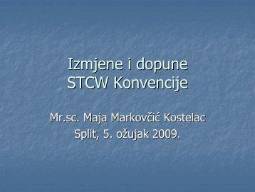 Izmjene i dopune STCW Konvencije