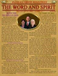 January 2012 Newsletter - Randall Grier Ministries