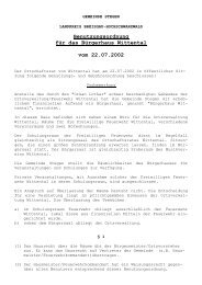 Benutzungsordnung für das Bürgerhaus Wittental vom 22.07.2002