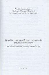 Współczesne problemy zarządzania przedsiębiorstwem - Wydział ...