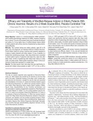 Efficacy and Tolerability of Modified-Release Indiplon - American ...