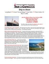 Ship to Shore - Tour de Cure