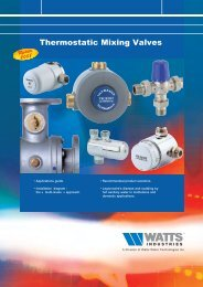 Applications guide - Watts Industries