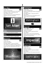 Ian Allan Illustrious Immingham Imperial Implacable IBIS IDA