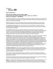 Renseignements importants - Ordre des évaluateurs agréés du ...