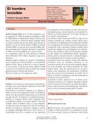 Guía El hombre invisible - Alfaguara