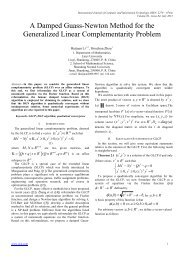 A Damped Guass-Newton Method for the Generalized Linear ...