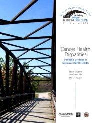 NMSU-FHCRC Cancer Health Disparities Conference 2009 Program