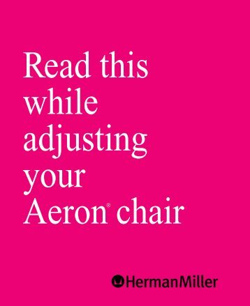 Herman Miller Aeron Chair Adjustments