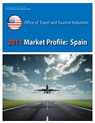 2011Market Profile: Spain - Office of Travel and Tourism Industries