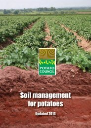 Soil Management for Potatoes updated 2013