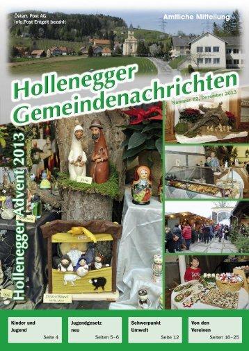 Amtliche Mitteilung - Gemeinde Hollenegg