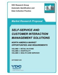 self-service and customer interaction management ... - VDC Research